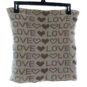 Juicy Couture Fuzzy Tube Top Love Heart Logo